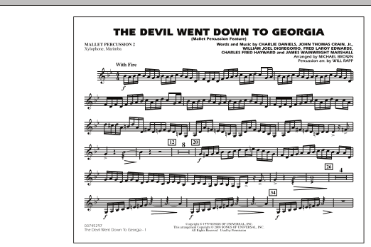 The Devil Went Down to Georgia - Mallet Percussion 2 (Marching Band)