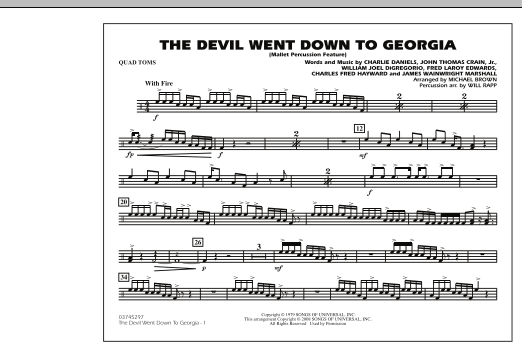 The Devil Went Down to Georgia - Quad Toms (Marching Band)