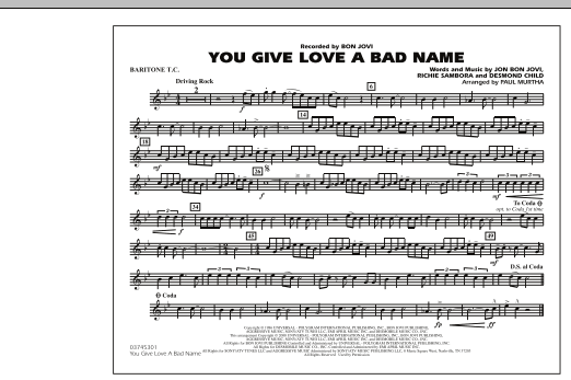 You Give Love a Bad Name - Baritone T.C. (Marching Band)