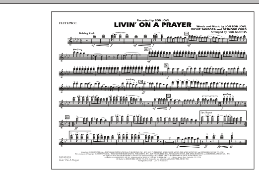 Livin' on a Prayer - Flute/Piccolo (Marching Band)