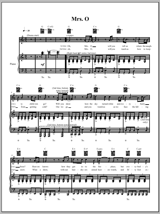 Mrs. O Sheet Music