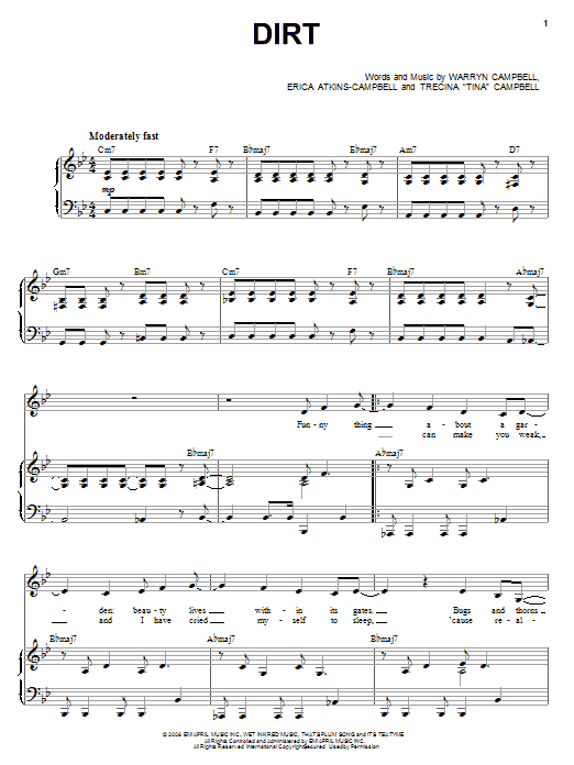 Dirt Sheet Music