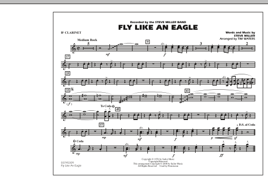 Fly Like An Eagle - Bb Clarinet (Marching Band)