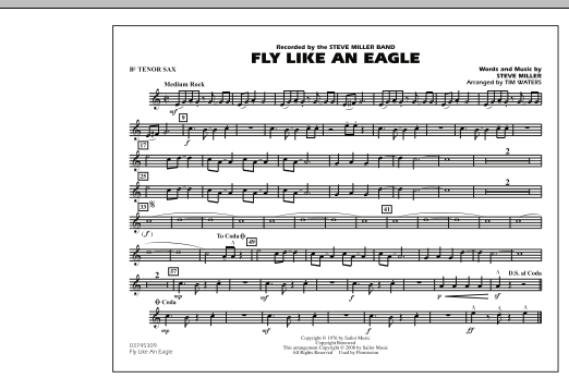Fly Like An Eagle - Bb Tenor Sax (Marching Band)