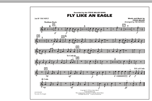 Fly Like An Eagle - 2nd Bb Trumpet (Marching Band)