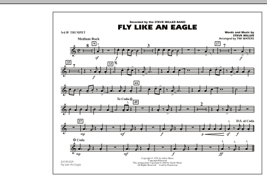 Fly Like An Eagle - 3rd Bb Trumpet (Marching Band)