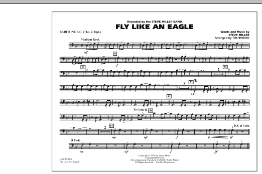 Fly Like An Eagle - Baritone B.C. (Opt. Tbn. 2) (Marching Band)