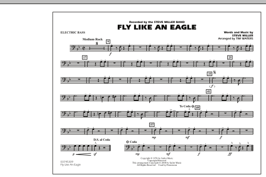 Fly Like An Eagle - Electric Bass (Marching Band)