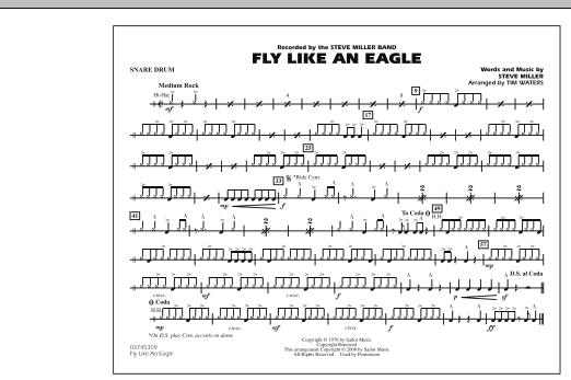 Fly Like An Eagle - Snare Drum (Marching Band)