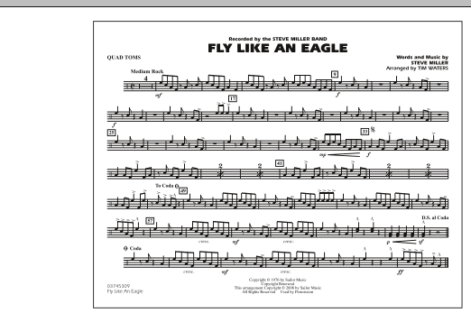 Fly Like An Eagle - Quad Toms (Marching Band)