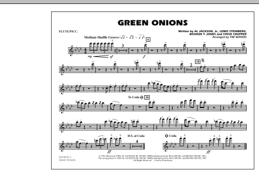 Green Onions - Flute/Piccolo (Marching Band)