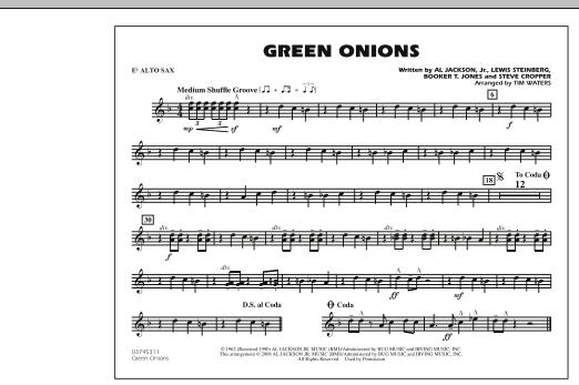 Green Onions - Eb Alto Sax (Marching Band)