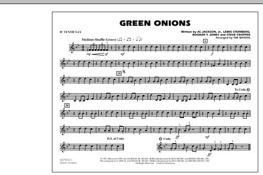 Green Onions - Bb Tenor Sax (Marching Band)
