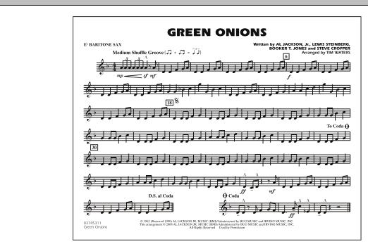 Green Onions - Eb Baritone Sax (Marching Band)