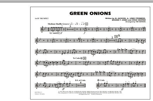 Green Onions - 1st Bb Trumpet (Marching Band)