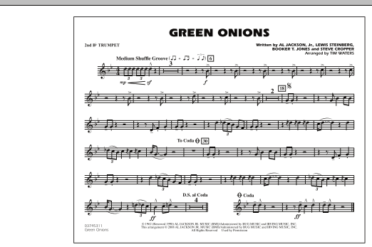 Green Onions - 2nd Bb Trumpet (Marching Band)