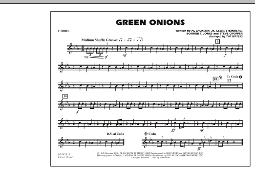 Green Onions - F Horn (Marching Band)