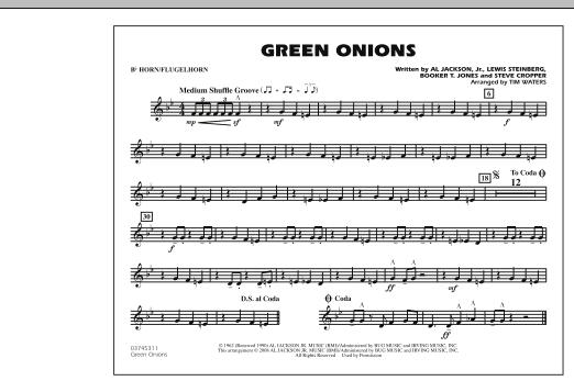 Green Onions - Bb Horn/Flugelhorn (Marching Band)