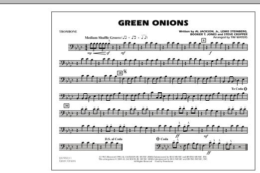 Green Onions - Trombone (Marching Band)