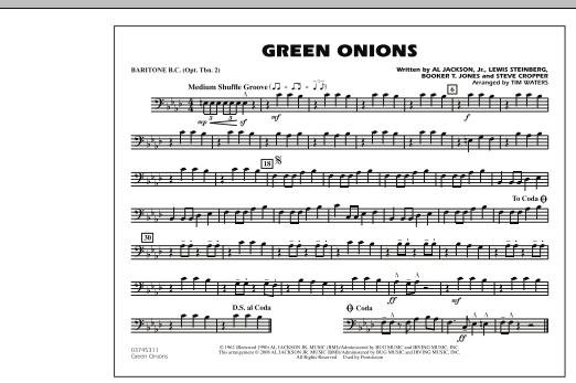 Green Onions - Baritone B.C. (Opt. Tbn. 2) (Marching Band)
