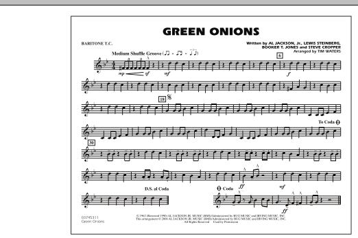 Green Onions - Baritone T.C. (Marching Band)
