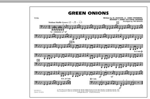 Green Onions - Tuba (Marching Band)