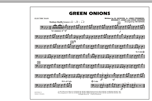 Green Onions - Electric Bass (Marching Band)