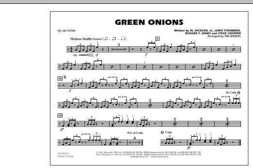 Green Onions - Quad Toms (Marching Band)