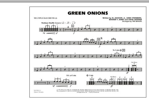 Green Onions - Multiple Bass Drums (Marching Band)