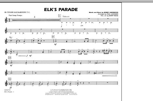 Elk's Parade - Bb Tenor Sax/Baritone TC (Marching Band)
