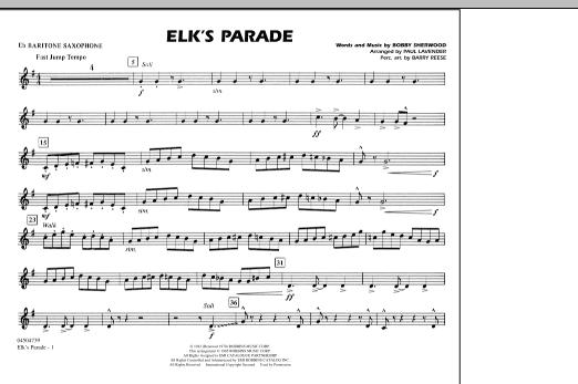 Elk's Parade - Eb Baritone Sax (Marching Band)