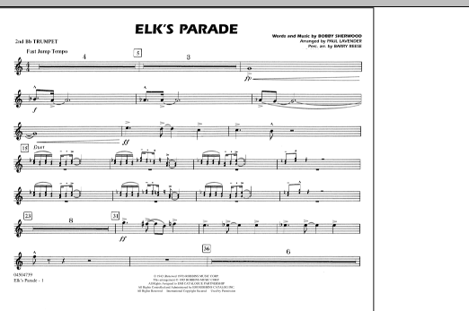 Elk's Parade - 2nd Bb Trumpet (Marching Band)