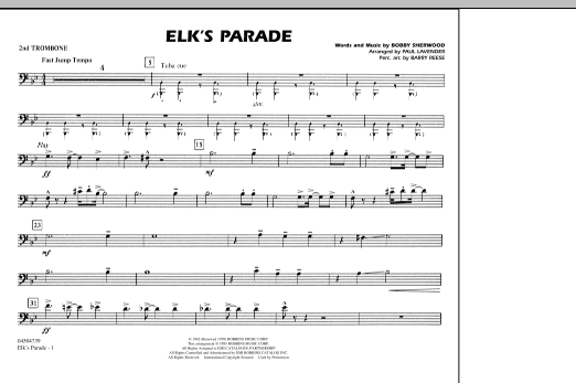 Elk's Parade - 2nd Trombone (Marching Band)