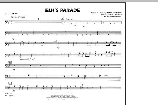 Elk's Parade - Baritone B.C. (Marching Band)