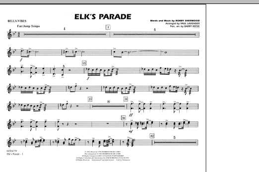 Elk's Parade - Bells/Vibes (Marching Band)