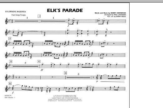 Elk's Parade - Xylophone/Marimba (Marching Band)