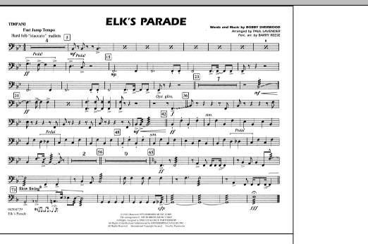 Elk's Parade - Timpani (Marching Band)