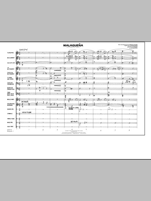Malaguena - Conductor Score (Full Score) (Marching Band)