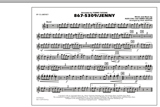 867-5309/Jenny - Bb Clarinet (Marching Band)