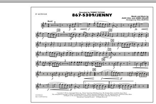 867-5309/Jenny - Eb Alto Sax (Marching Band)
