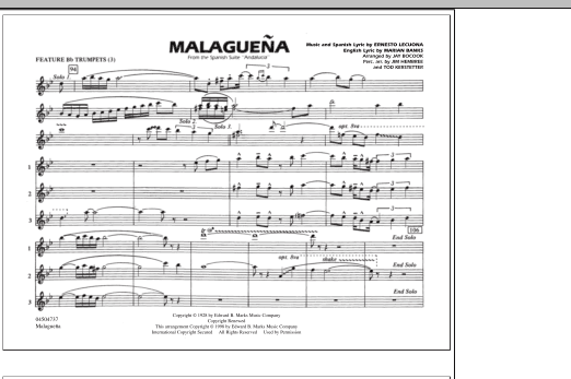 Malaguena - Feature Bb Trumpets (3) (Marching Band)