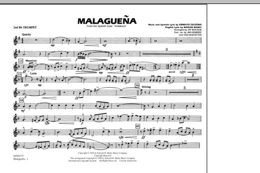 Malaguena - 2nd Bb Trumpet (Marching Band)