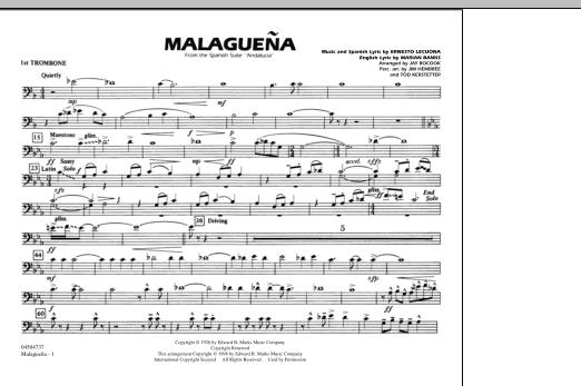 Malaguena - 1st Trombone (Marching Band)