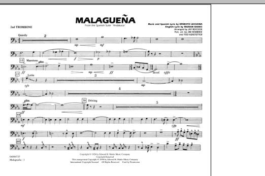 Malaguena - 2nd Trombone (Marching Band)