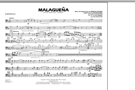 Malaguena - Baritone B.C. (Marching Band)
