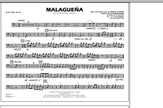 Malaguena - Electric Bass (Marching Band)