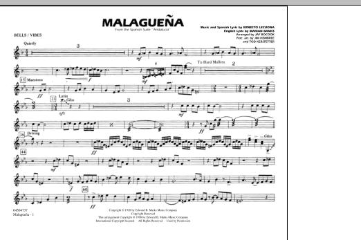 Malaguena - Bells/Vibes (Marching Band)