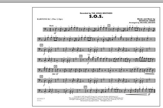 S.O.S. - Baritone B.C. (Opt. Tbn. 2) (Marching Band)
