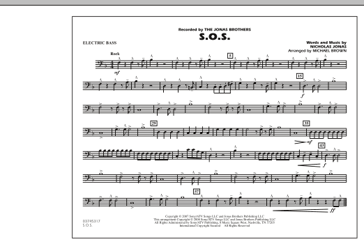 S.O.S. - Electric Bass (Marching Band)