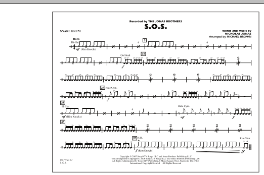 S.O.S. - Snare Drum (Marching Band)
